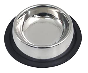 """(Rosewood) Stainless Steel Non-slip Cat Bowl 4.5"""" [20460] from Rosewood"""