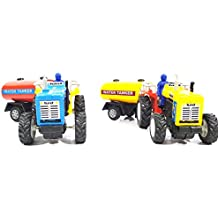 2 Combo Tractor with water Tanker toy kit (Blue Yellow)