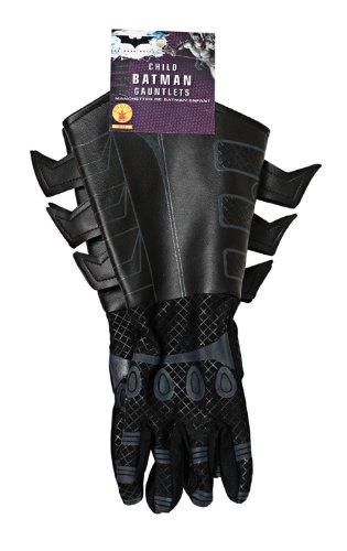 Batman Kostüm Knight Dark - Batman The Dark Knight Kinder Handschuhe Kostüm Zubehör Lederoptik schwarz