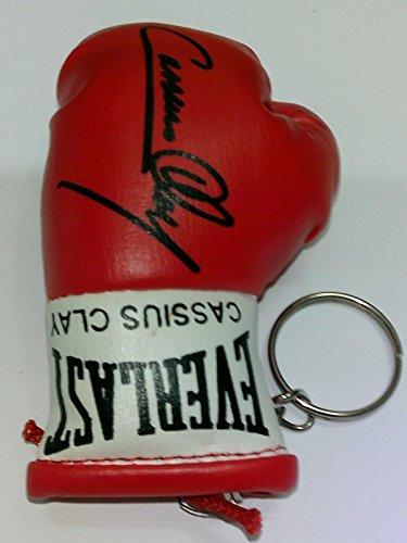 Clay Schlüsselanhänger (Signiert Mini Boxhandschuh Schlüsselanhänger Cassius Clay)