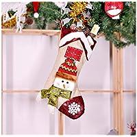 Hermosa decoración navideña Calcetines de Navidad no Tejidos Bolsa de Dulces Bolsa Colgante de árbol de