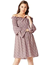 Miss Chase Women's Crepe Strapless Dress