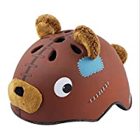 shuhong Safety Helmet Children Boys Girls Multi-Sport Helmets For Skateboard Cycling Skate Scooter Roller,Teddybear-S:50-54cm