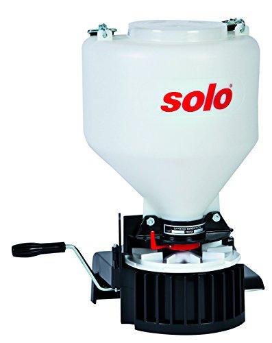 solo-421-9-kg-capacite-epandeur-manuel-avec-sangle-reglable-et-manuel-a-manivelle-rouge