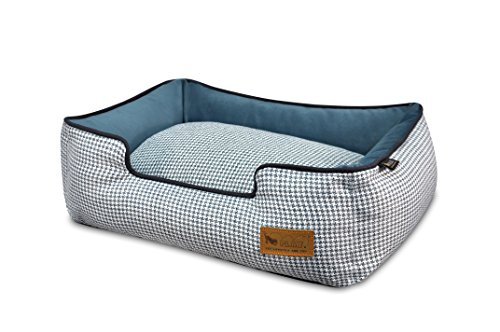 P.L.A.Y - Pet Lifestyle & You PY3011BSF Lounge Bett Houndstooth, S, blau/weiß -