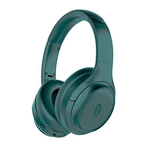 Active Noise Cancelling Kopfhörer TaoTronics Bluetooth 5.0 Kabellos Headphone Over Ear Headset ANC Tiefer Bass CVC Geräuschunterdrückendes Mikrofon 30 Std. Spielzeit für Reisen Fahren Büro, Grün
