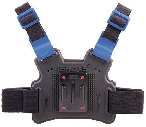 iSHOXS Taktsang Prowear, Hochflexibler GoPro Chest Mount, Perfekt an Den Körper Anpassbar, Elastische Grundplatte mit austauschbaren Safety Sliderschuhen (Mountainbike-körper)