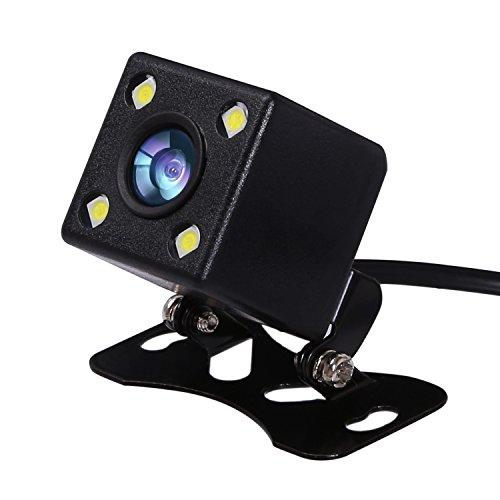 CAHAYA Caméra de Recul 170 degrés CCD LED Caméra de Voiture Universelle Etanche avec Vision Noctume pour Toutes les Voitures