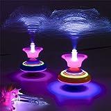 ECMQS Neuheit Licht Faser Kreisel Musik Leuchtende Musik Gyro Leuchten Kind Spielzeug, 1pc Zufällige Farbe