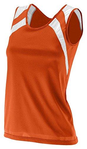 Augusta - Pull sans manche - Femme Orange - Orange/blanc