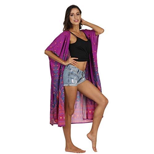 BHYDRY Frauen drucken Sonnencreme vertuschen Bikini Bademode Schiere Strand Badeanzug Smock ()