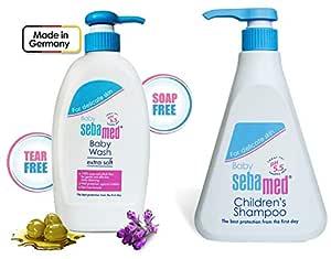Sebamed Baby Wash Extra Soft 400Mland Childrens' Shampoo, 500ml