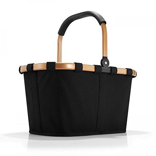 Reisenthel carrybag Frame schwarz Gold 22 Liter Einkaufskorb faltbar Alurahmen