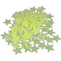 Lyanther 1 Paquete de 100pcs Inicio Pared Resplandor en la Estrella Oscura calcomanía bebé habitación habitación de los niños