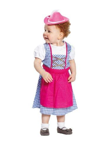 Costumedi carnevale della piccola pastorella heidi da bambina
