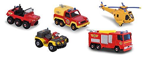 Majorette - 203094002038 - Sam le Pompier - Coffret Cadeau - 5 Véhicules