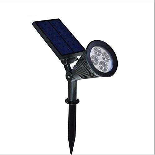 Fucnen® 4LED Solar Garden Light 200lumen impermeabile di sicurezza notturna illuminazione esterna lampada