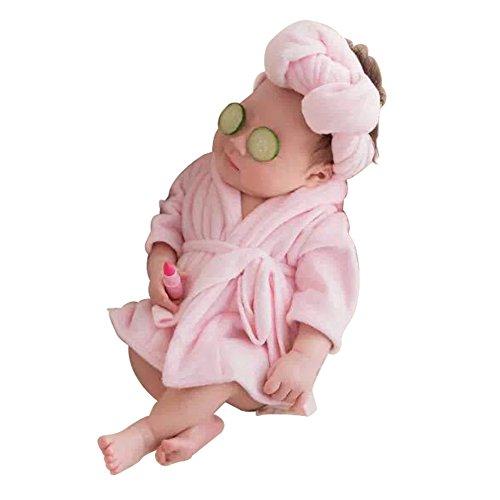 ie Props Kostüme Baby Foto Schlafanzüge Bademäntel Handtücher Stil für Jungen Mädchen Fotografie (Mädchen Schlumpf-kostüm)