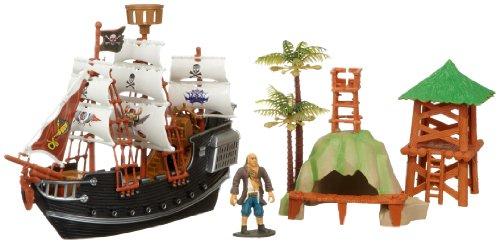 Unbekannt Rasehorn 38960 - Piratenschiff 28 cm mit Figur und Zubehör