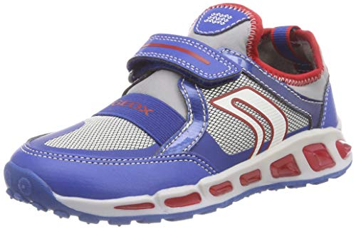 Geox J Shuttle Boy A, Zapatillas para Niños, (Royal/Red C0833), 33 EU