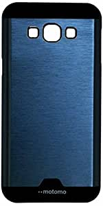 MVE(TM) New Motomo Aluminium Brushed Metal Case for Samsung Galaxy E5-BLUE