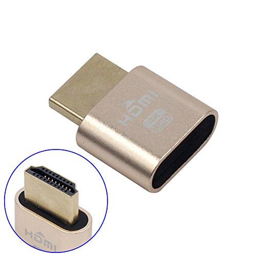 ZREAL WBTUO VGA virtueller Bildschirmadapter HDMI 1.4 DDC EDID Dummy Stecker Display Emulator