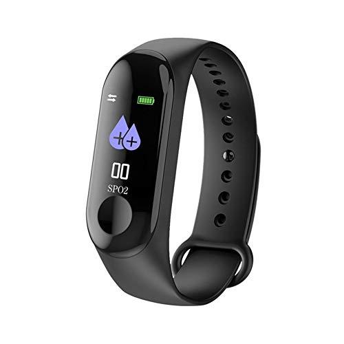 Hswt Fitness-Tracker Sport-Armband Überwachung Der Herzfrequenz 0,96 Farbbildschirm IP67 Wasserdicht Ios Android Mehrsprachig Aktivitäts-Tracker,Black