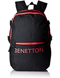 United Colors of Benetton 20 Ltrs Black Casual Backpack (16A6BAGT7002I)