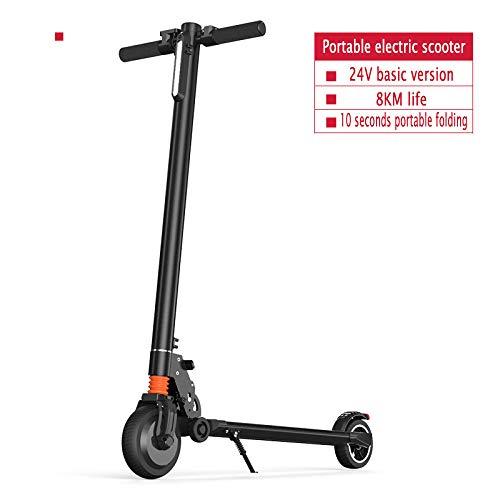 YIWANGO E-Scooter Für Erwachsene Maximale Akkulaufzeit 8-50 Km LCD-Anzeige Die Höchstgeschwindigkeit Beträgt 18 Km/H Der E-Scooter Maximale Belastung 100 Kg E-Roller,BlackA - Elektro-roller-rampen