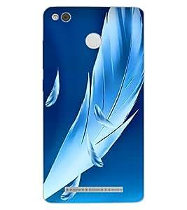 ColourCraft Beautiful Feathers Design Back Case Cover for XIAOMI REDMI 3X