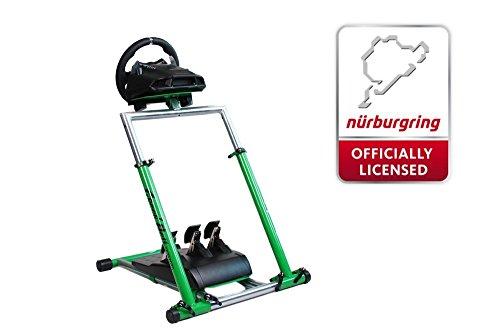 Preisvergleich Produktbild Speedmaster Wheelstand - Lenkrad Halterung Massiv - Wheel Stand - Grün - Green Hell - Grüne Hölle Edition für Logitech Thrustmaster Fanatec