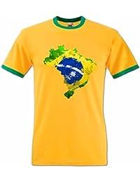 T-Shirt Homme Football Carte du Brésil
