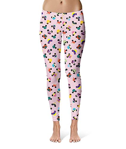 Pantaloni donna moda disney capri orecchie abbigliamento topo yoga leggings pantaloni felpati skinny stretch workout fitness pantaloni (color : colour, size : s)