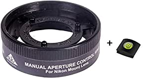 AK Kriation Manual Aperture Control Ring For Reverse Mount Macro Photography, With 52mm Filter Threads (For Nikon Mount Lens Only)