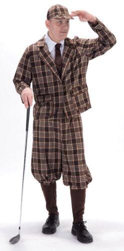 1930er Golfer Kostüm Erwachsene (Kostüme Golfer)