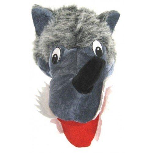 Wolf mit Zähnen Neuheit Tier Hut Fancy Dress Gray nach Größe