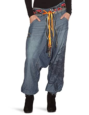 Desigual Tejano - Pantalon - Sarouel - Coton - Femme - Bleu - 30