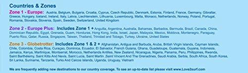 Love2surf Tarjeta Triple SIM Internacional de Datos 3G SIM para Viajes     114 pa  ses -  EUROPA   15 Pa  ses  - 500MB