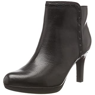 Clarks Damen Adriel Sadie Stiefel, Schwarz (Black Leather), 39.5 EU