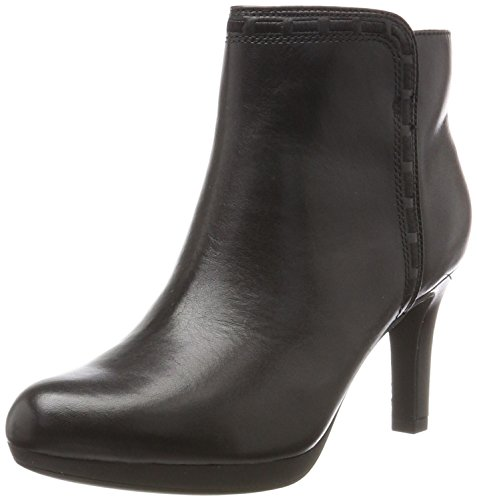 Clarks Damen Adriel Sadie Stiefel, Schwarz (Black Leather), 40 EU