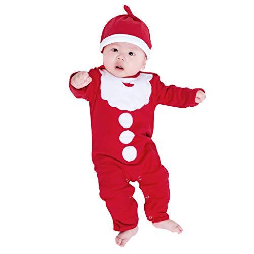LEXUPE Baby Kleidung Set Mädchen Weihnachtsoutfit Baby Kleid Tütü Bodys Strampler Stirnband Beinwärmer Schuhe(Rot,73) -