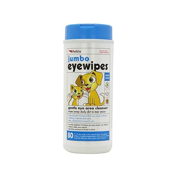 Petkin Jumbo Eye Wipes (Pack of 80 wipes) 1