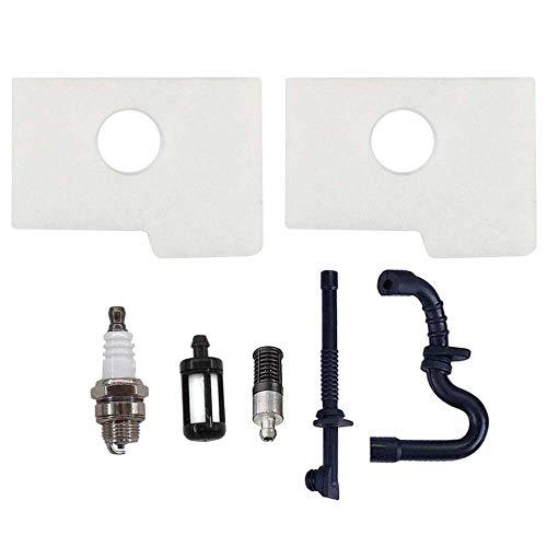 Aisen 2X Filtro aria Con Filtro olio Benzina tubo & Candela Di Accensione per Stihl 017018MS170MS180ms180C MS 170180motosega