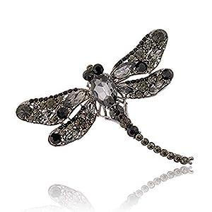 AILUOR Unisex Multi-Farben Flügel Libelle Brosche, Österreichische Kristallrhinestone-Libelle Halskette Schmuck Hochzeit Blumenstrauß Brosche