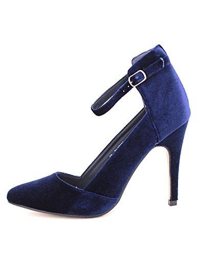 Cendriyon Escarpin velour Blue SERINA Chaussures Femme