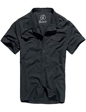 Brandit Uomo Roadstar Camicia Nero taglia 3XL