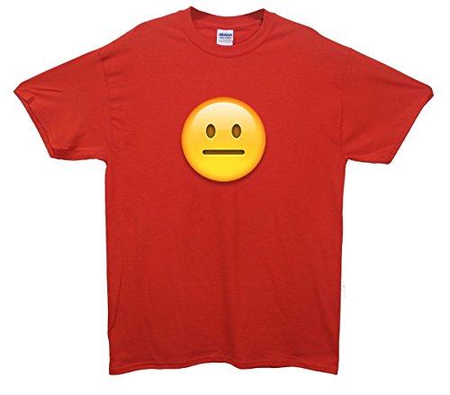 Straight Faced Emoji T-Shirt Rot