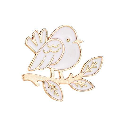 guowei0074 White Bird Brosche Weihnachtsfrau-Kostüm Schmuck -