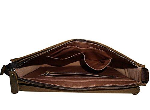 SHFANG Herren Leder Retro einzelne Umhängetasche / diagonal Cross Pack Arbeit / Outdoor Reisen , dark brown litchi pattern