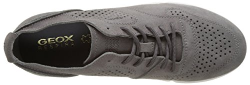 Geox U Brattley A, Sneakers Basses Homme Gris (Anthracitec9004)